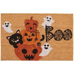 Boo Ghosts & Pumpkin Coir Doormat