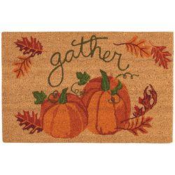 Nourison Gather Pumpkins Coir Doormat