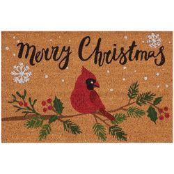 Nourison Merry Christmas Cardinal Coir Doormat