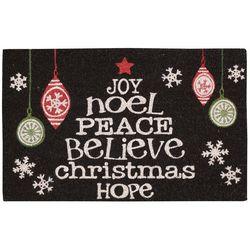 Nourison Word Christmas Tree Coir Doormat