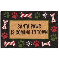 Nourison Santa Paws Is Coming To Town Coir Doormat