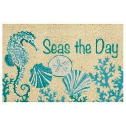 Seas The Day Seahorse Coir Outdoor Mat