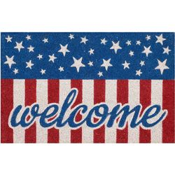 Nourison Welcome Flag Coir Outdoor Mat