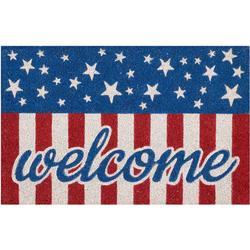 Welcome Flag Coir Outdoor Mat