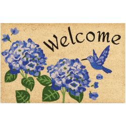 Nourison Welcome Hummingbird & Flower Coir Outdoor Mat
