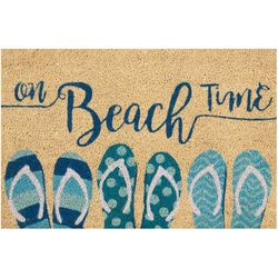 On Beach Time Coir Outdoor Mat