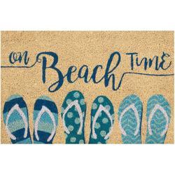 On Beach Time Coir Outdoor Mat