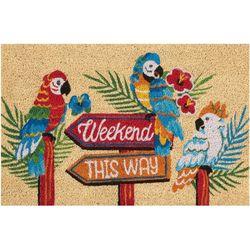Weekend This Way Outdoor Mat