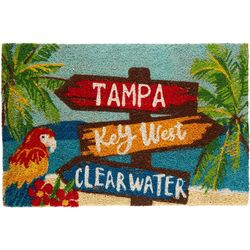 Beach Sign Coir Outdoor Mat