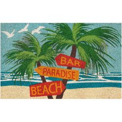 Tropix Beach Sign Outdoor Mat