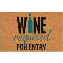 Wine Required For Entry Outdoor Mat