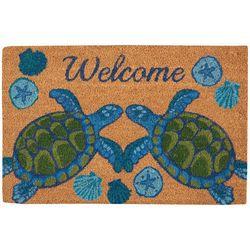 Tropix Welcome Sea Turtle Coir Outdoor Mat