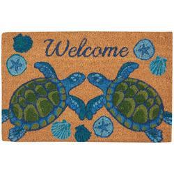 Welcome Sea Turtle Coir Outdoor Mat