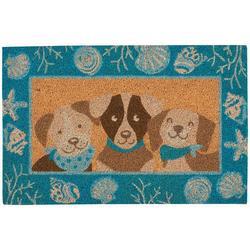 Dog Trio Coir Outdoor Mat