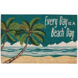 Tropix Every Day Is A Beach Day Coir Outdoor Mat