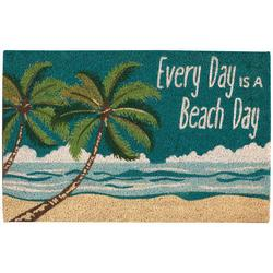 Every Day Is A Beach Day Coir Outdoor Mat