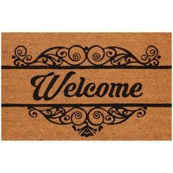 Welcome Scroll Coir Outdoor Mat
