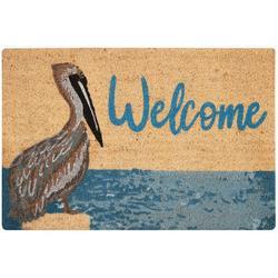 Welcome Pelican Coir Outdoor Mat