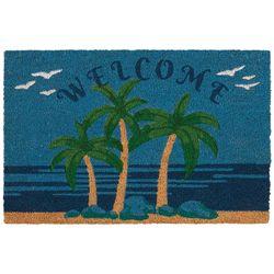 Tropix Welcome Palm Tree Coir Outdoor Mat