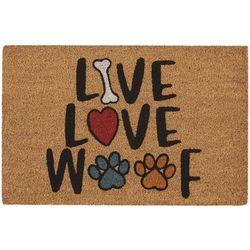 Tropix Live Love Woof Outdoor Mat