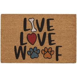 Live Love Woof Outdoor Mat