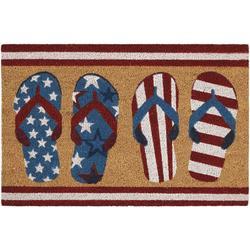 Americana Flip Flops Coir Outdoor Mat