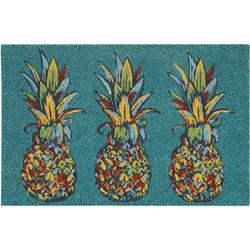 Trio Pineapple Coir Outdoor Mat