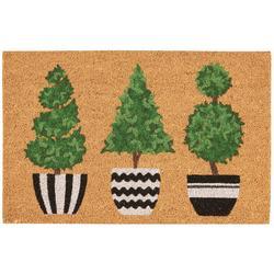 Trio Tree Coir Outdoor Mat