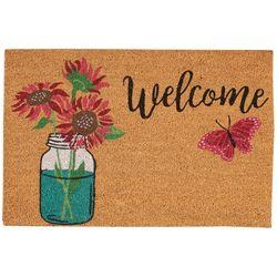 Casabella Welcome Flower Jar Coir Outdoor Mat