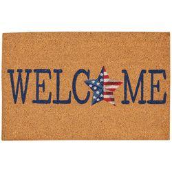Casabella Welcome Patriotic Star Coir Outdoor Mat