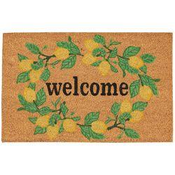 Casabella Welcome Lemon Wreath Coir Outdoor Mat