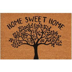 Home Sweet Home Tree Coir Outdoor Mat