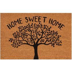 Home Sweet Home Tree Coir Outdoor Mat