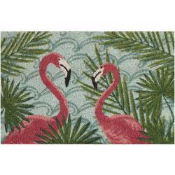 Home Flamingo Duo Coir Outdoor Mat
