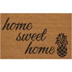 Home Sweet Home Pineapple Coir Outdoor Mat