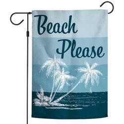 Wincraft Beach Please Palm Tree Garden Flag
