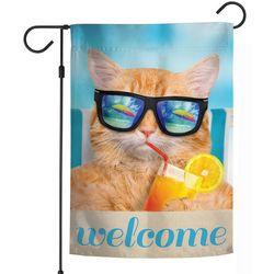 Wincraft Beach Cat Garden Flag