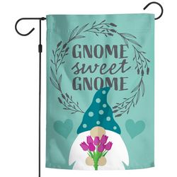 Wincraft Floral Gnome Sweet Gnome Garden Flag