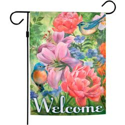 Blue Birds Garden Flag