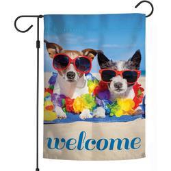 Beach Dog Garden Flag