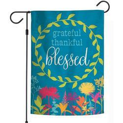 Grateful Thankful Blessed Garden Flag