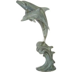 San Pacific Double Dolphin Statue