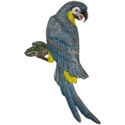 San Pacific Blue Parrot Wall Plaque