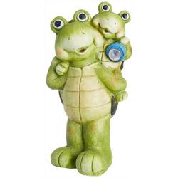 Solar Light Turtle Duo Statue