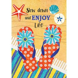 Enjoy Life Mini Garden Flag