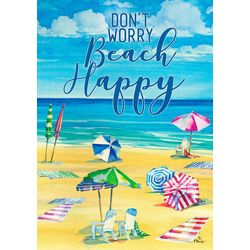 Beach Happy Mini Garden Flag