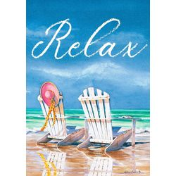 Relax Adirondack Chairs Mini Garden Flag
