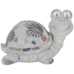 Galt International Mosaic Turtle Solar Light Statue