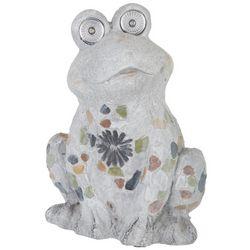 Galt International Mosaic Frog Solar Light Garden Statue