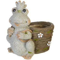 Frog Flower Pot Garden Statue